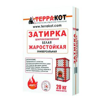 """ЗАТИРКА жаростойкая белая """"Терракот"""", 20 кг"""