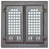302 LK Дверца каминная 2-х створчатая с решеткой