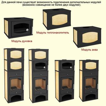 Печь-камин Мета Варта 3D