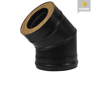 Сэндвич-колено BLACK (AISI 430/0,8 мм) 45° 2 секции