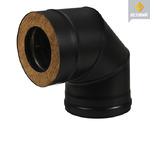 Сэндвич-колено BLACK (AISI 430/0,8 мм) 90° 2 секции