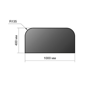Лист предтопочный сталь 400*1000*2 R135