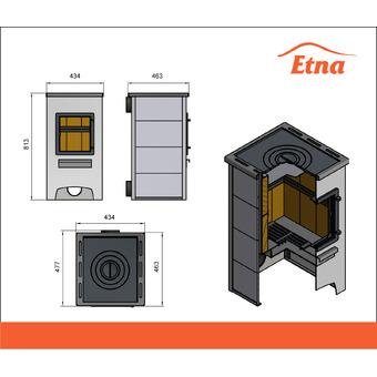 Печь-камин ETNA (ДТ-4С) с плитой