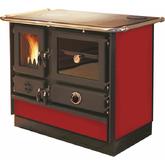 Печь-камин MBS TERMO MAGNUM красный R (отвод дыма правый)